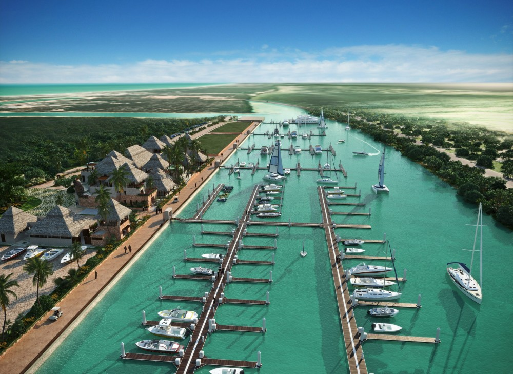 Construction begins in Telchac, Yucatan.  A premier world class nautical complex destination.
